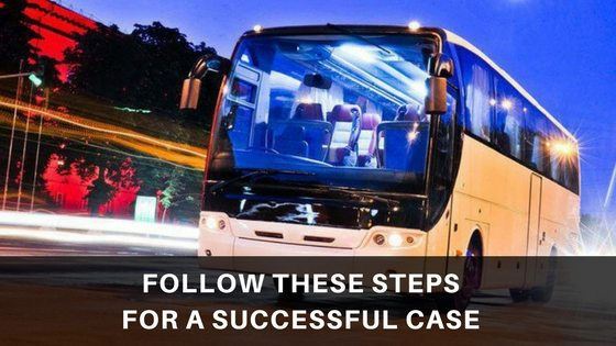 Here are the steps that you must follow after being involved in any bus accident