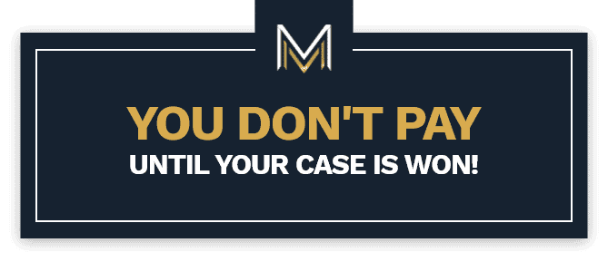 You don't pay until your case is won banner